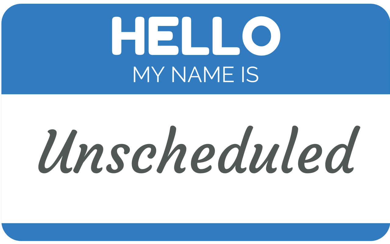 Online Restaurant Scheduling Blog: Unscheduled